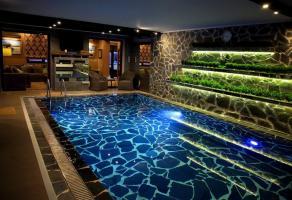 сауна с бассейном.